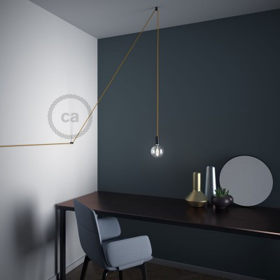 "Decentralizer, Black ""V"" ceiling or wall hook for any fabric electric cable"