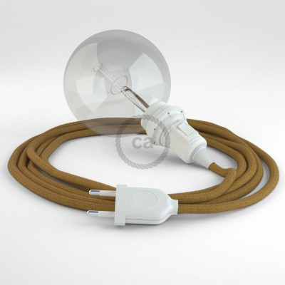 Create your RC31 Golden Honey Cotton Snake for lampshade and bring the light wherever you want.