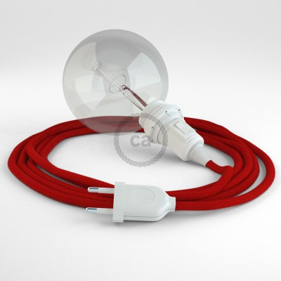 Create your RC35 Fire Red Cotton Snake for lampshade and bring the light wherever you want.
