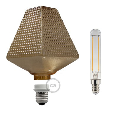 Modular LED Decorative Light Bulb G160 Smoked 5W E27 Dimmable 2700K